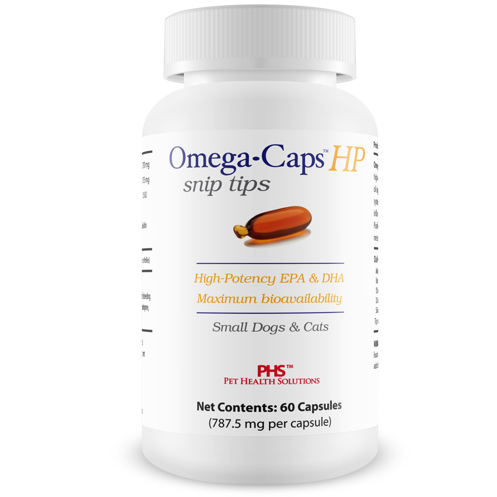 Omega-Caps HP snip tips for Cats & Smaller Dogs (60 Capsules)