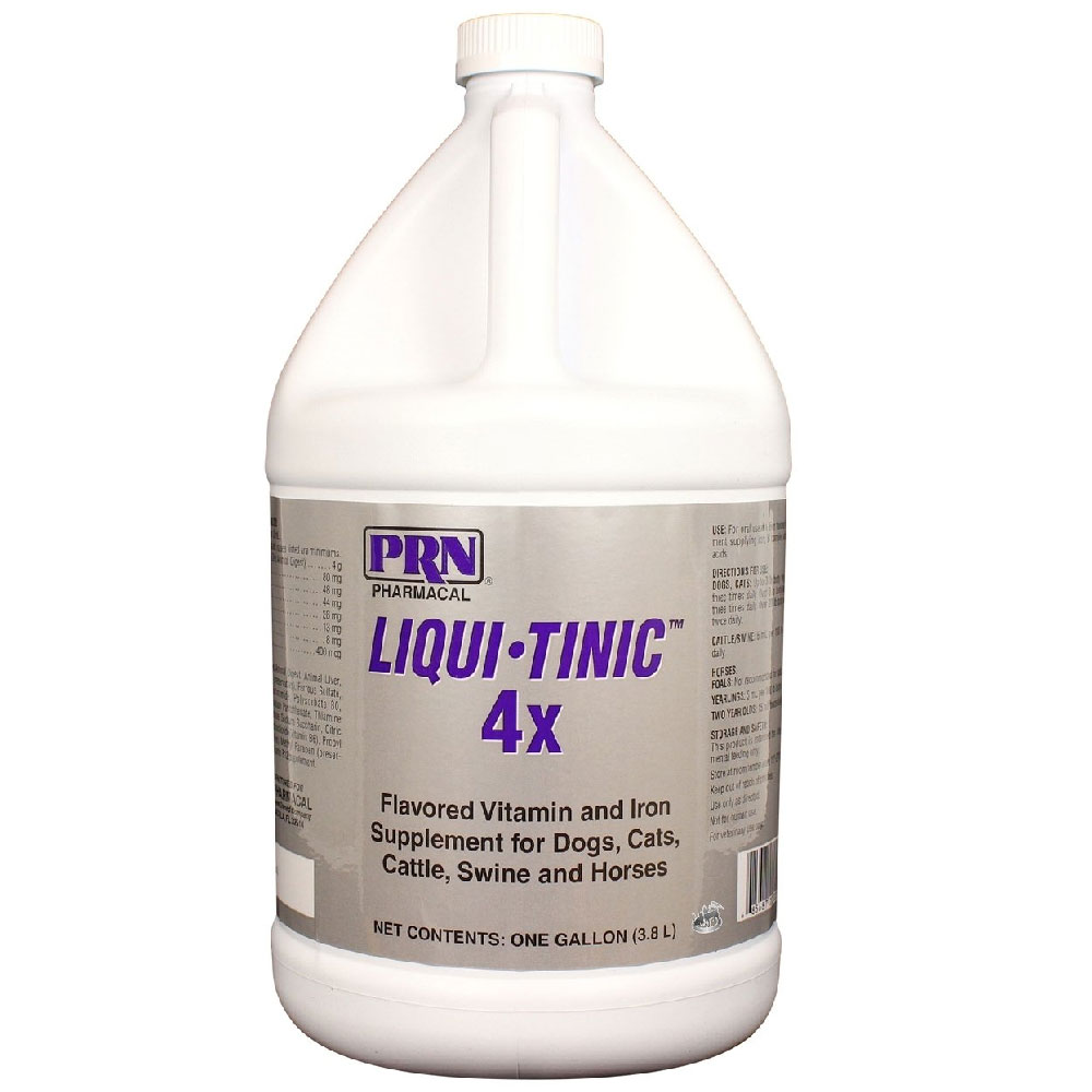 Liqui-Tinic 4x Vitamin & Iron Supplement (1 Gallon)