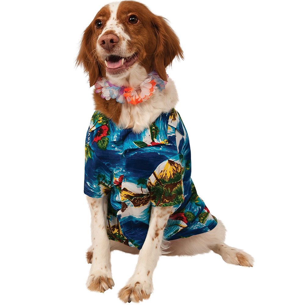 Luau Dog Costume - Large