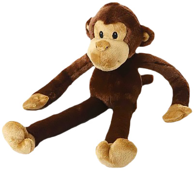 "Multipet Swingin Safari Monkey Plush Dog Toy - Large (22"")"