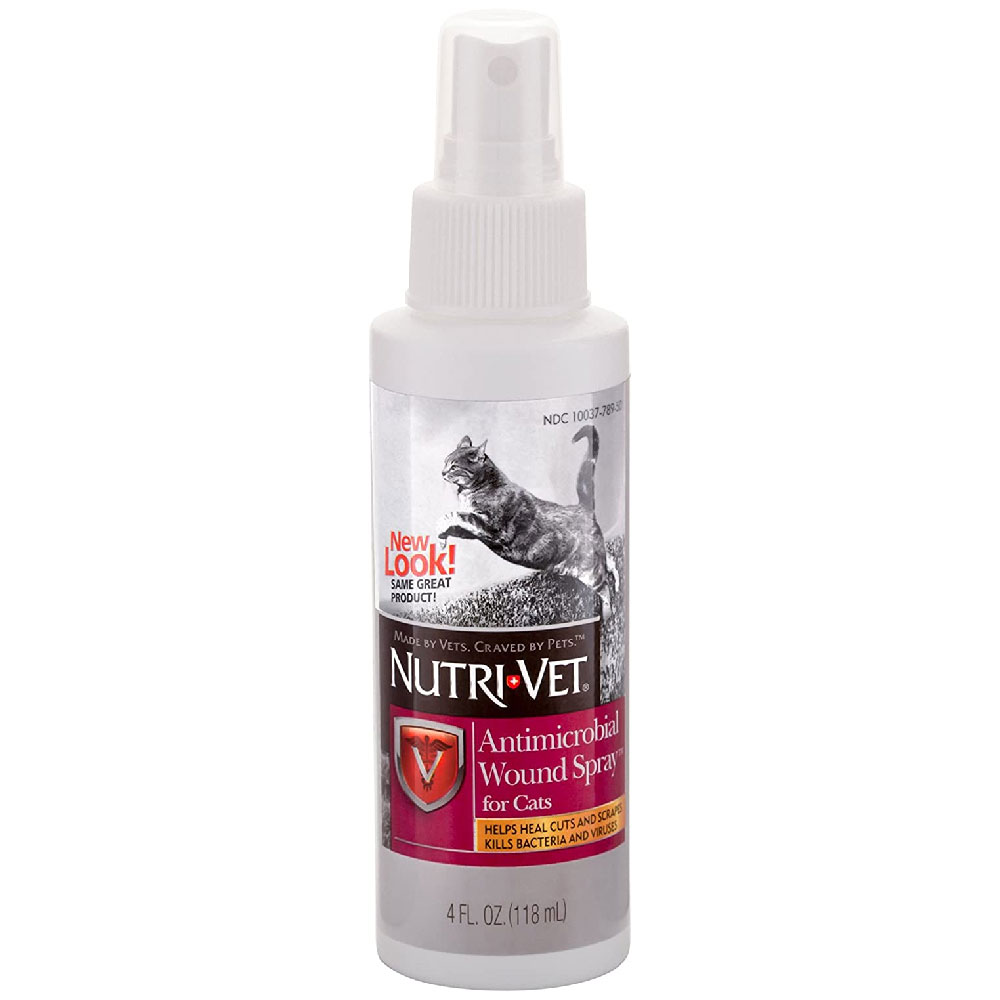 Nutri-Vet Antimicrobial Wound Spray for Cats (4 oz)
