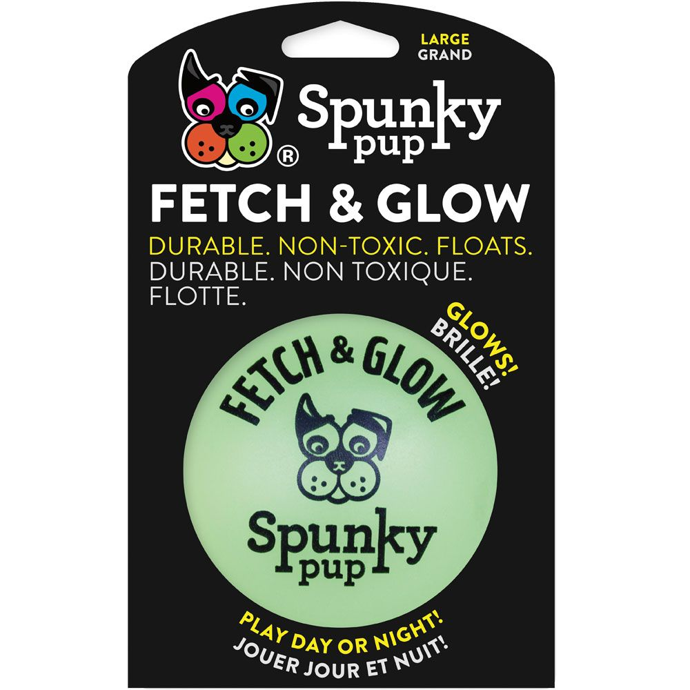 Spunky Pup Fetch & Glow Ball - Large