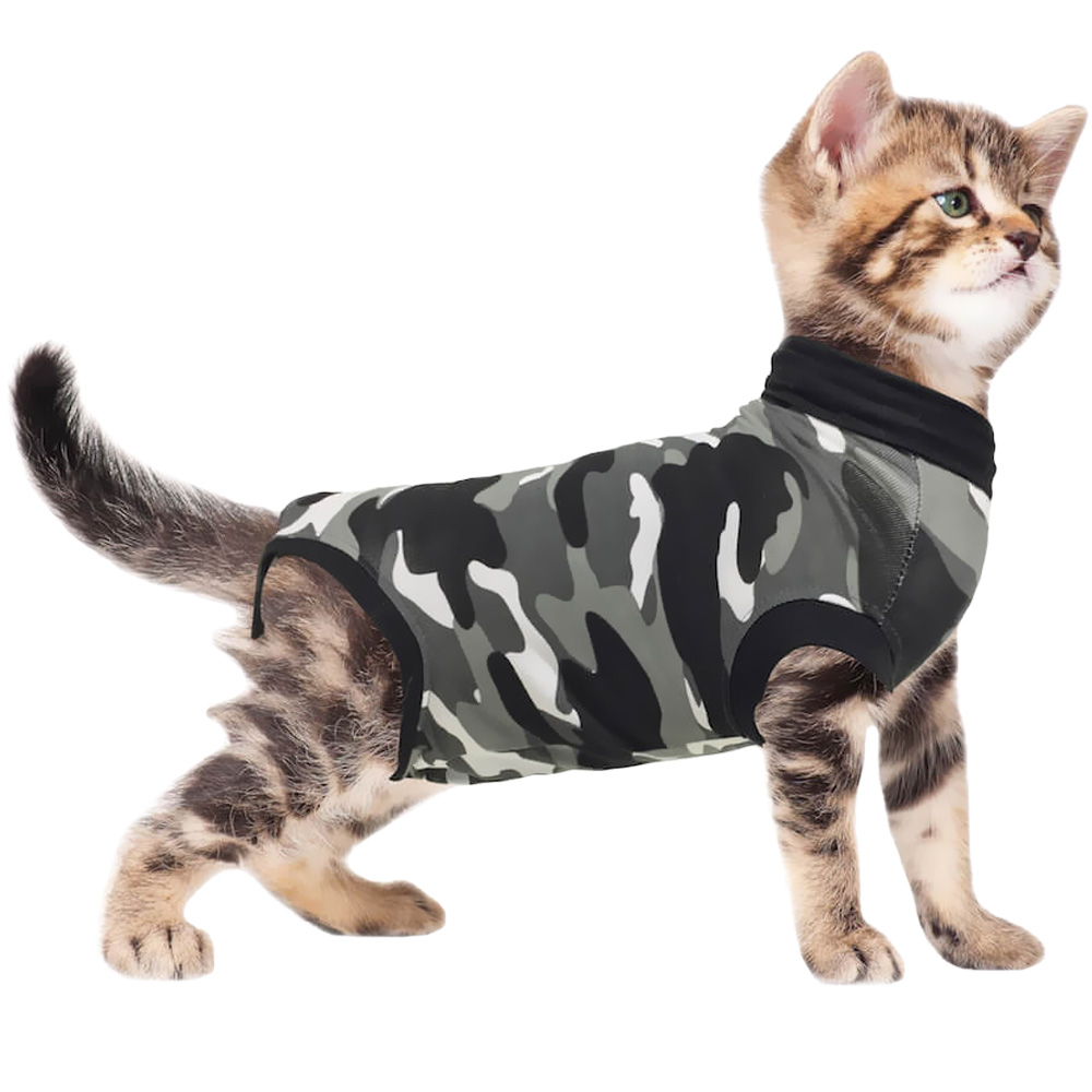 Suitical Recovery Suit for Cats Camo - XXXSmall