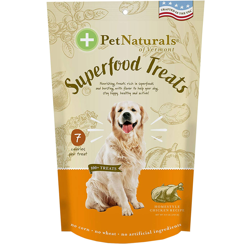 Pet Naturals of Vermont Superfood Treats for Dogs - Homestyle Chicken Recipe (100+ Bite-Sized Chews)