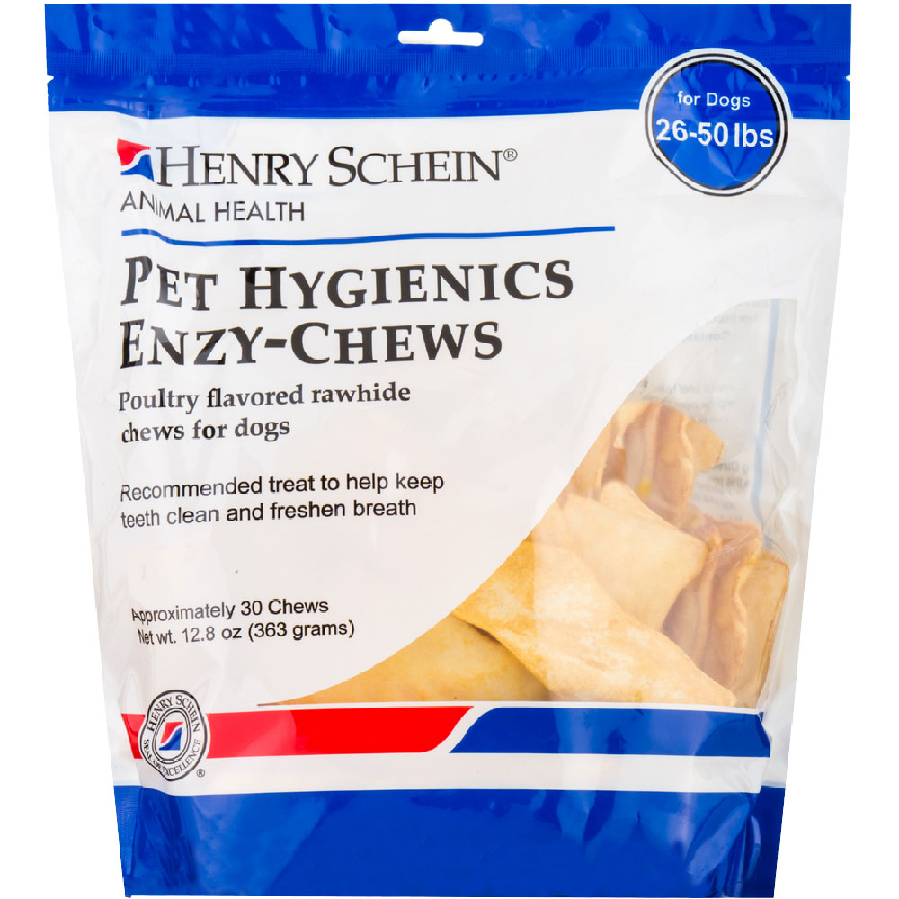 Pet Hygienics Enzy-Chews Poultry Flavored Rawhide for Dogs 26-50 lb (30 count)