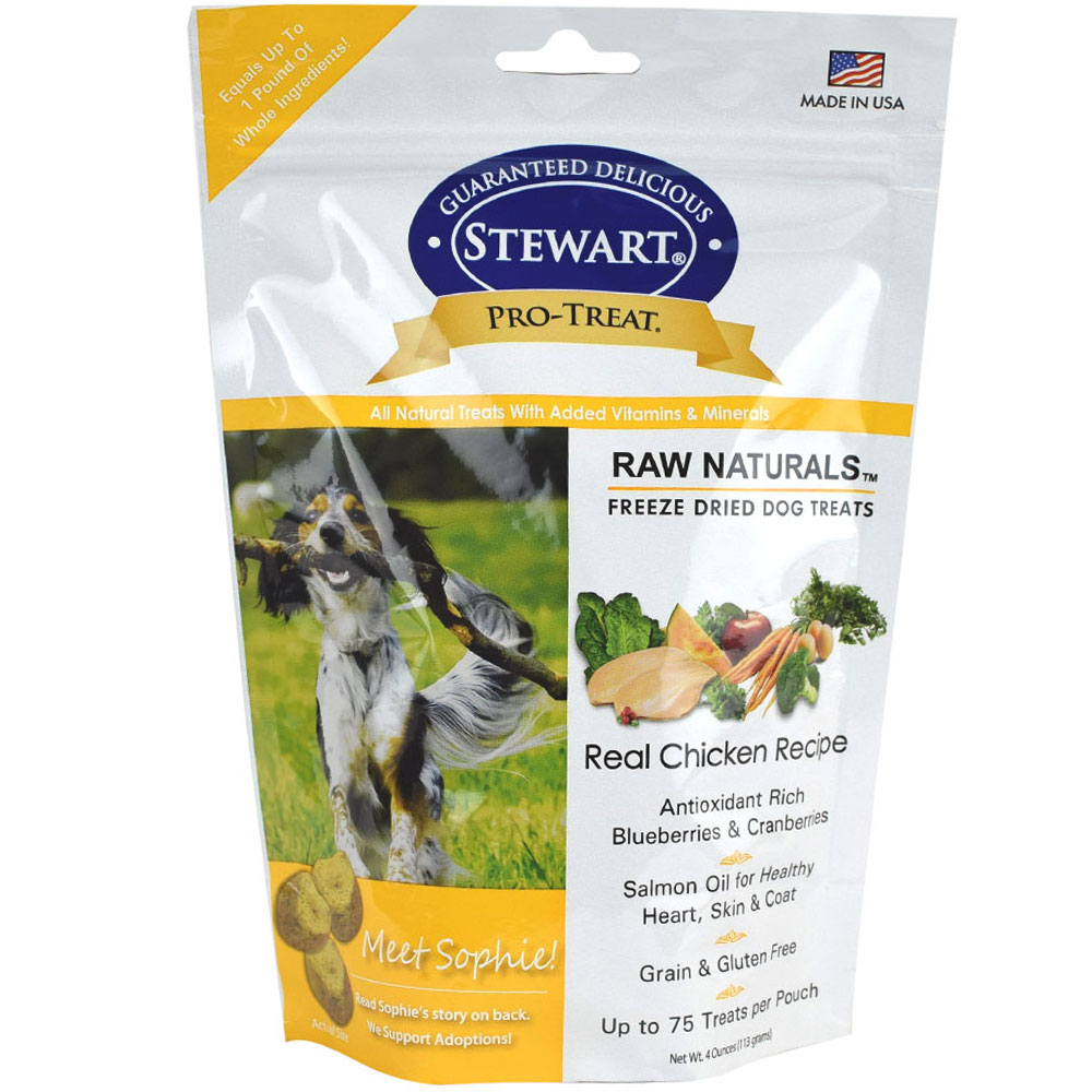 Stewart Raw Naturals Freeze Dried Dog Treats - Real Chicken (4 oz)