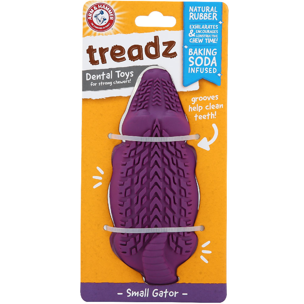 Treadz Dental Toy for Dogs - Gator (Small)